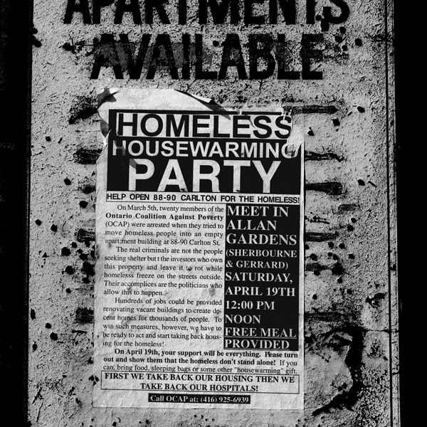 Apartments Available Sign, 88 Carlton Street, Toronto