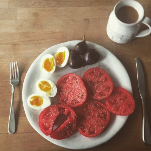 Breakfast with Plate and Coffee Mug